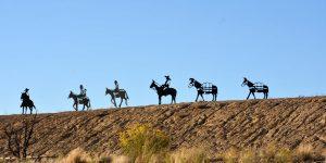 Wild-West-Skulpturen
