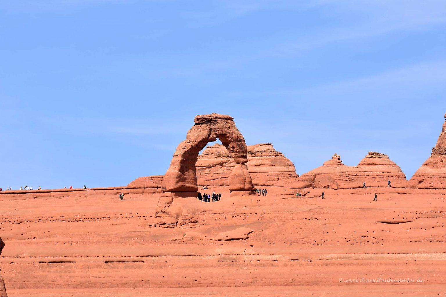 Delicate Arch aus der Ferne