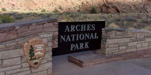 Eingang zum Arches Nationalpark