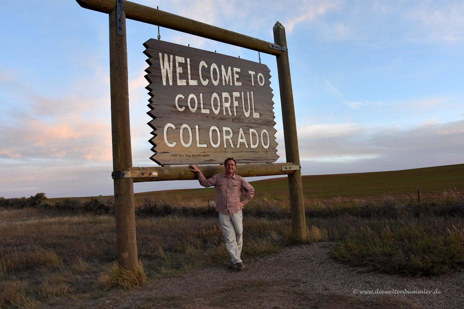 Willkommensschild von Colorado