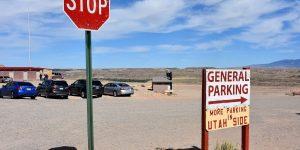 Parkplatz im anderen Bundesstaat