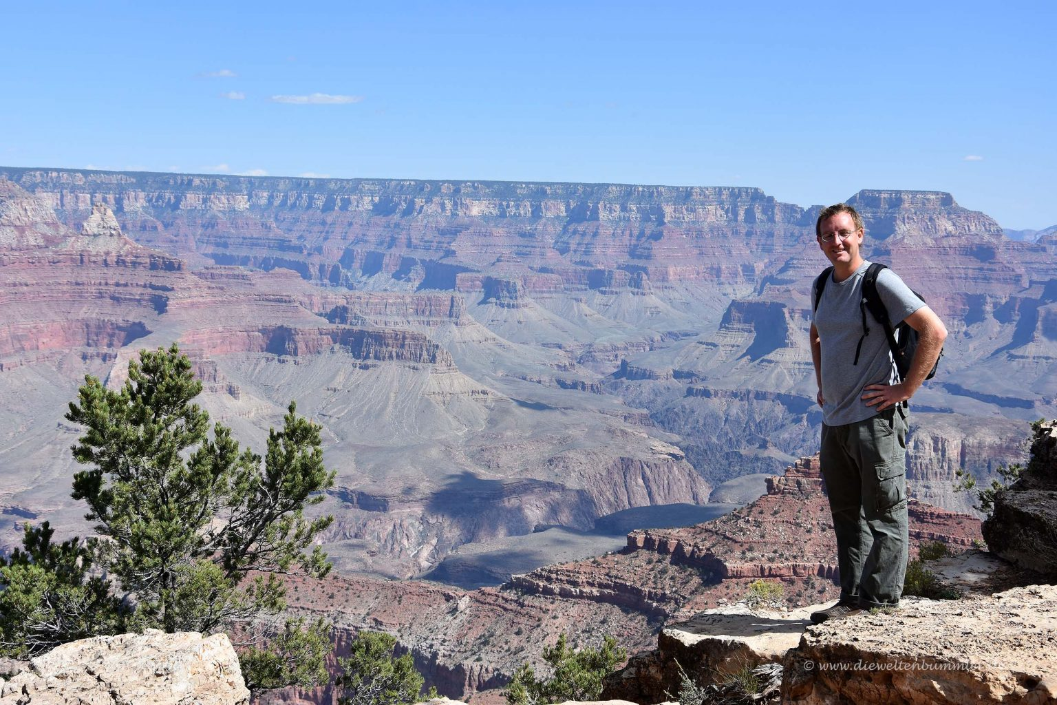 Michael Moll am Grand Canyon
