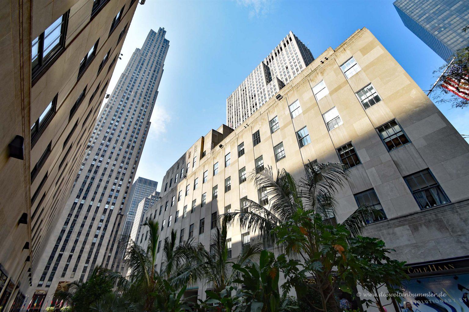 Rockefeller Center von unten