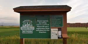 Anmeldung auf dem Stellplatz in South Dakota