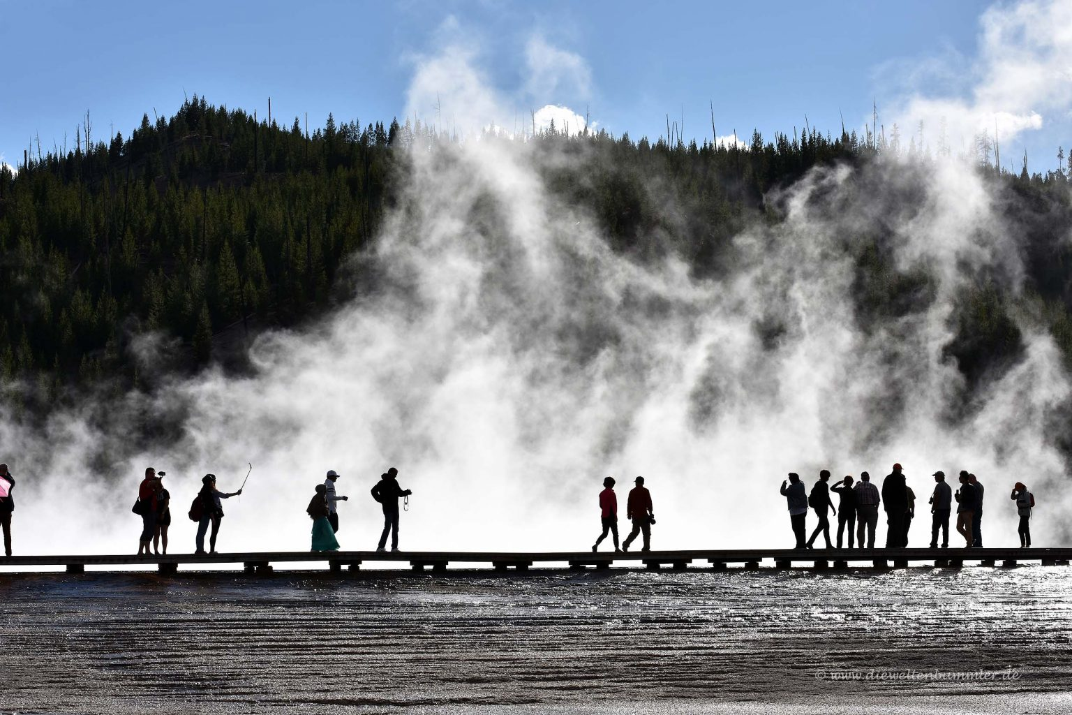 Besucher am Grand Prismatic Spring