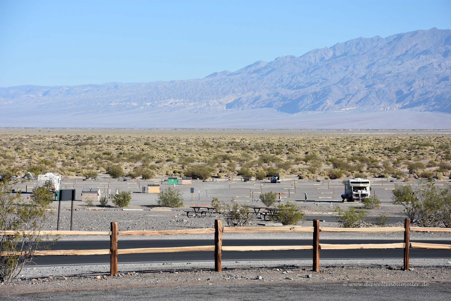 Campingplatz im Death Valley Nationalpark