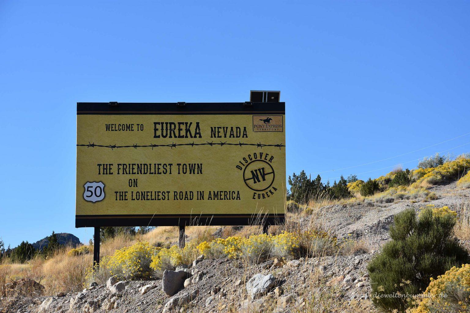 Eureka liegt auch am Highway 50