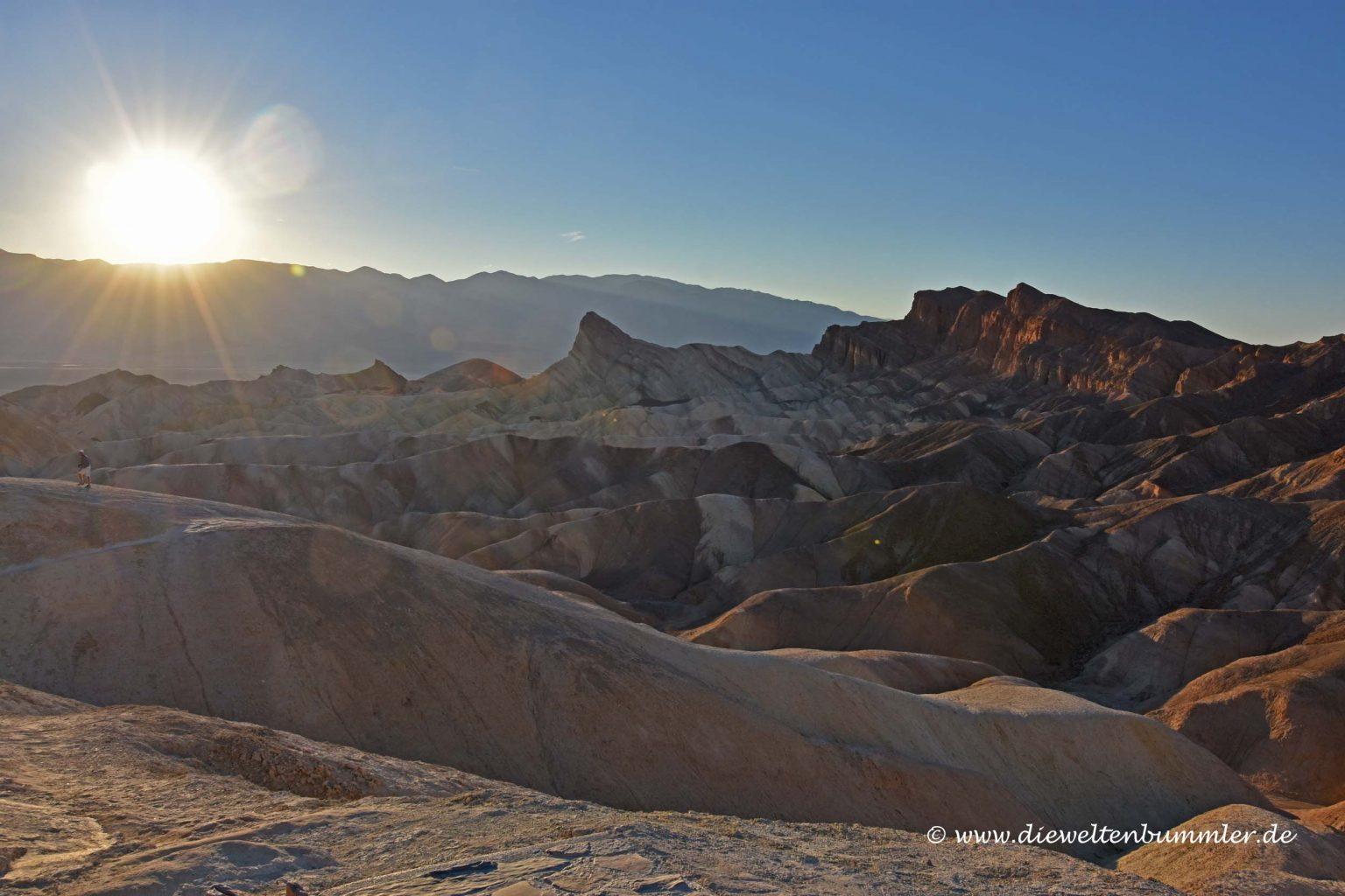 Sonnenuntergang am Zabriskie Point