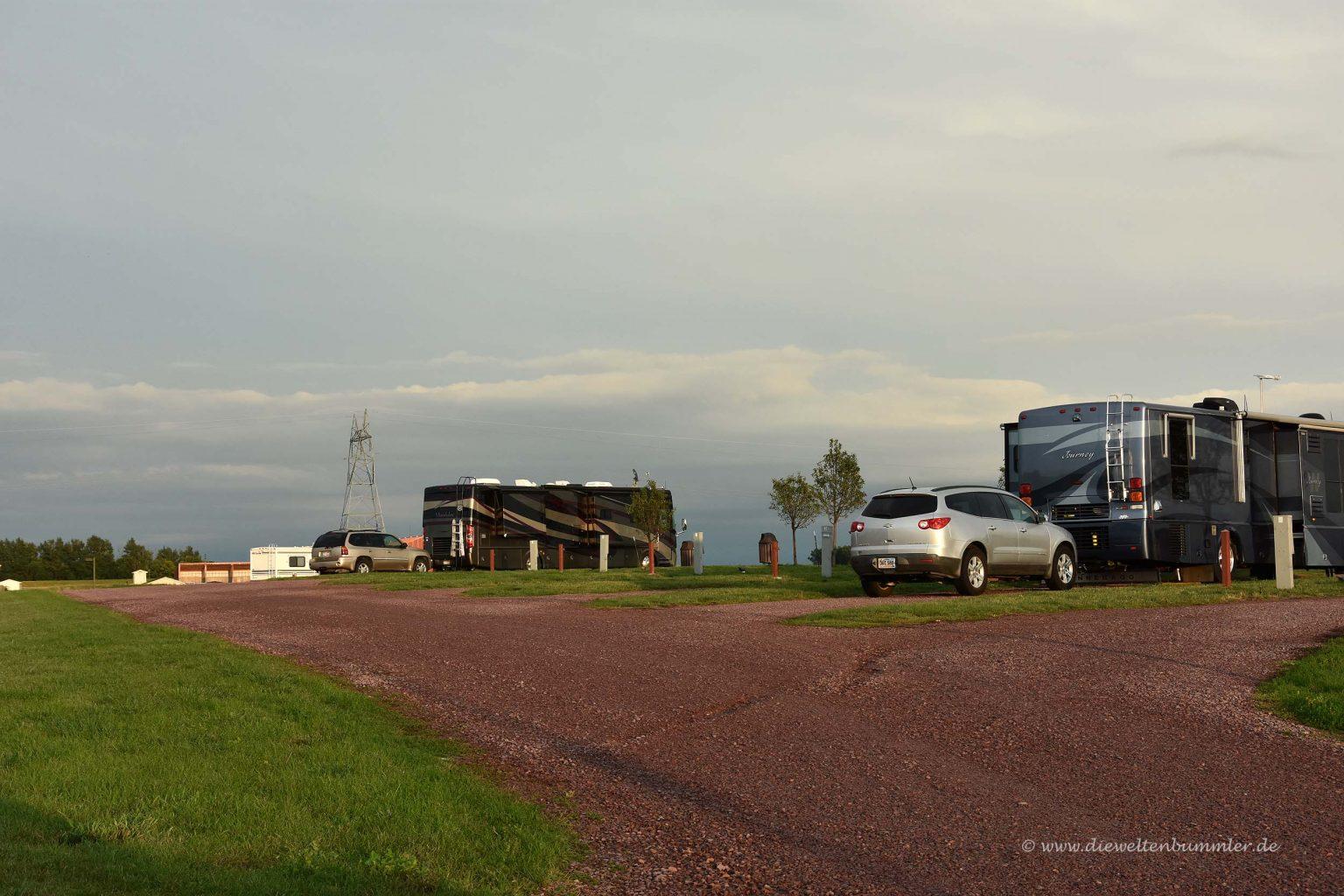 Wohnmobilstellplatz in South Dakota