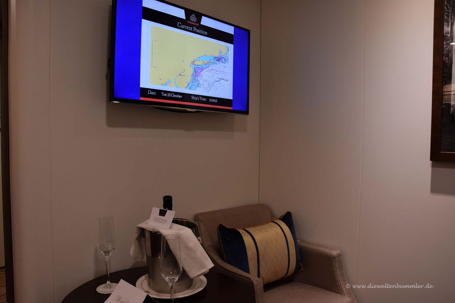 Fernseher auf der Kabine