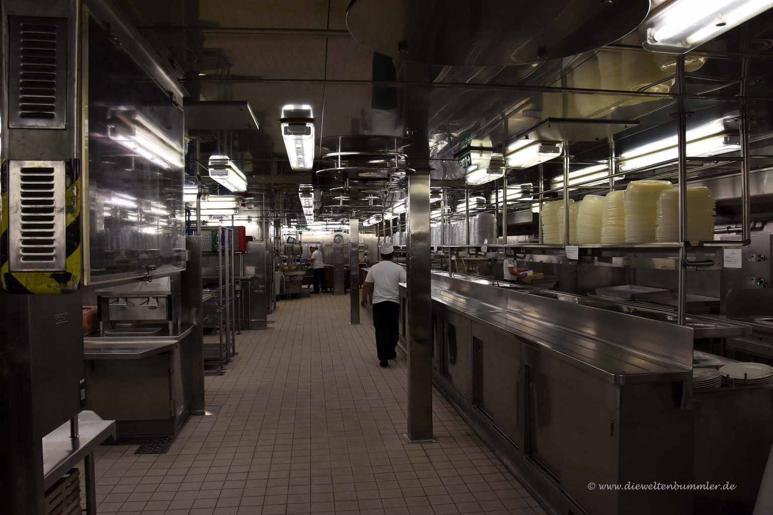 Küche vom Britannia-Restaurant