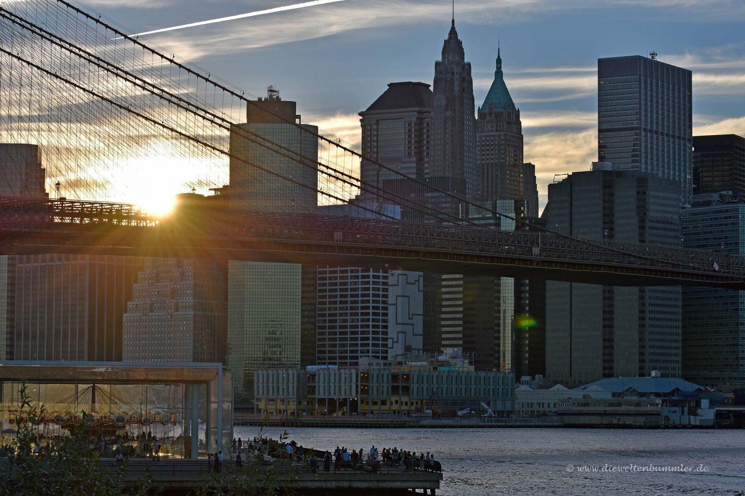 Manhattan im Sonnenuntergang
