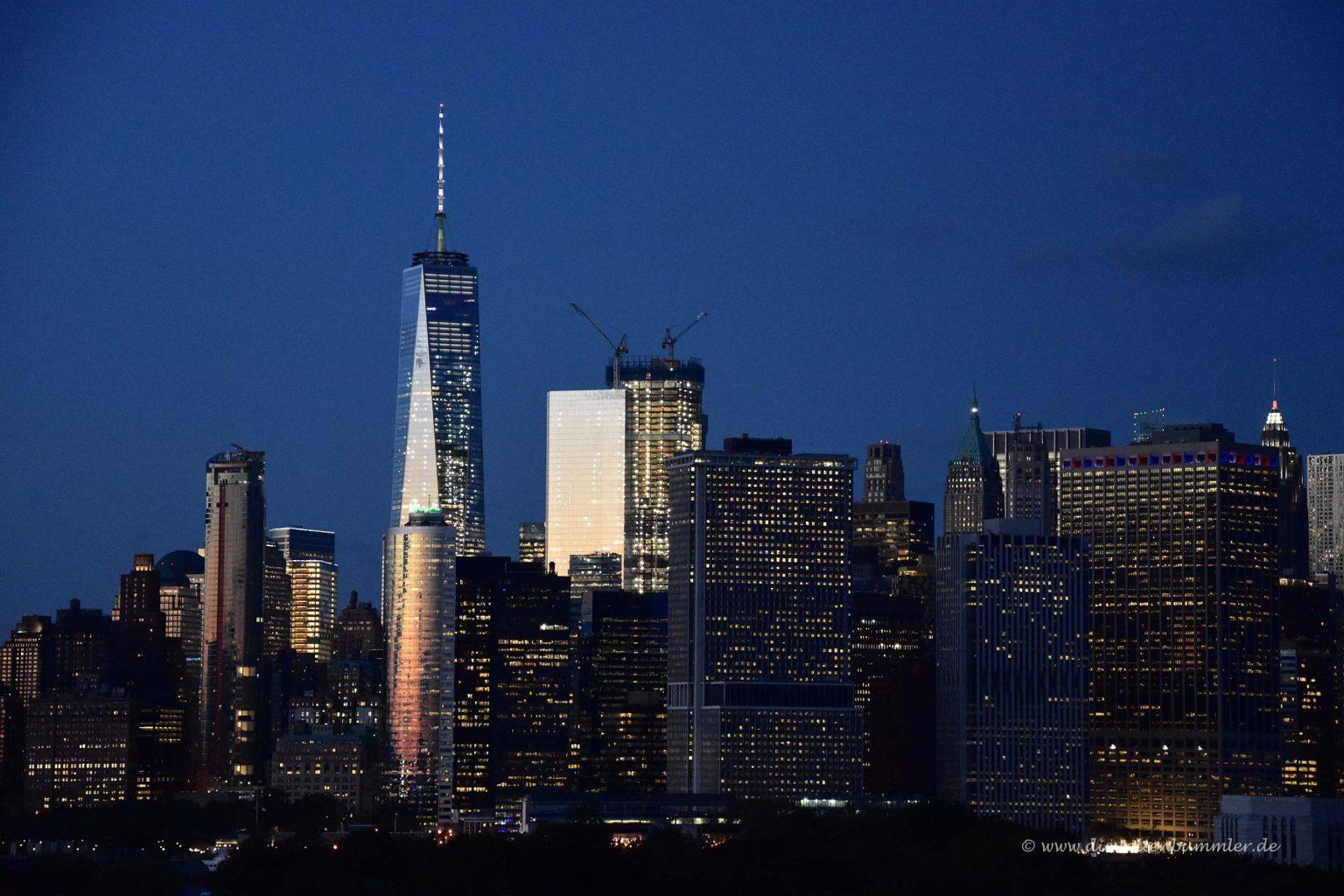 New York am Abend der Abfahrt