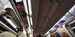 Digitalanzeige der Stationen