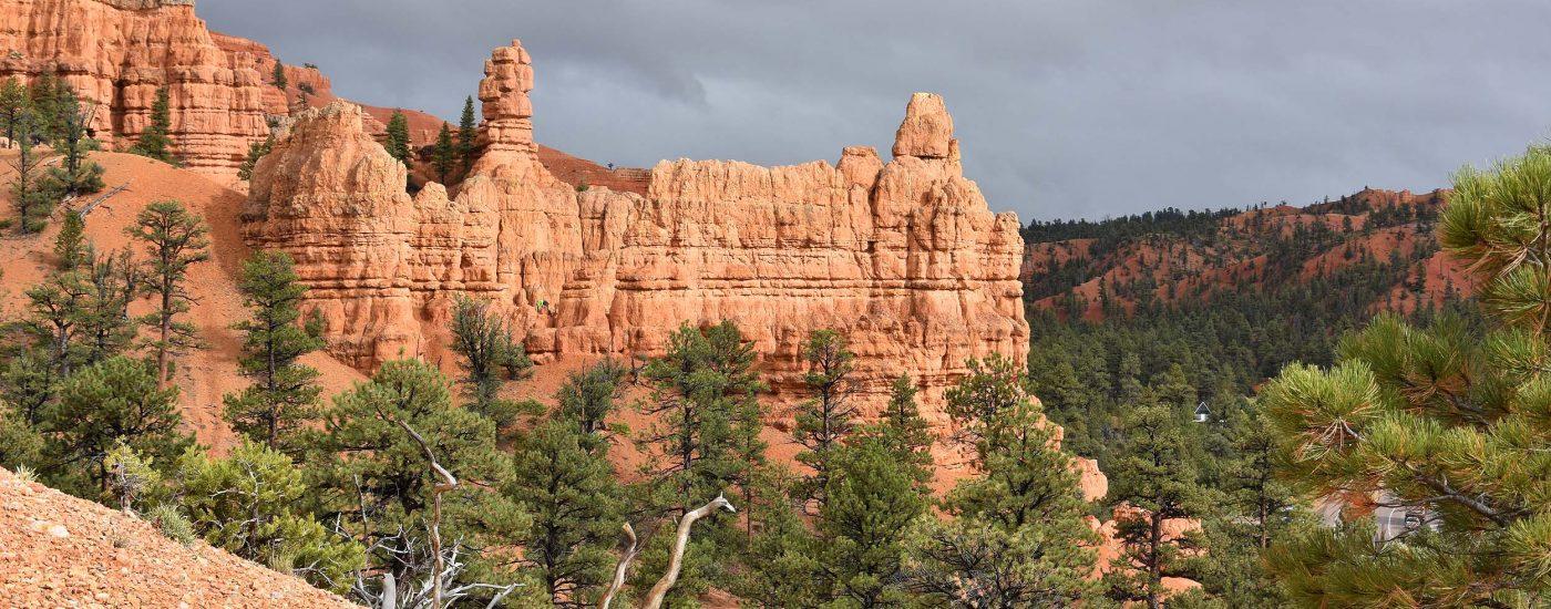 Rote Kulissen im Canyon