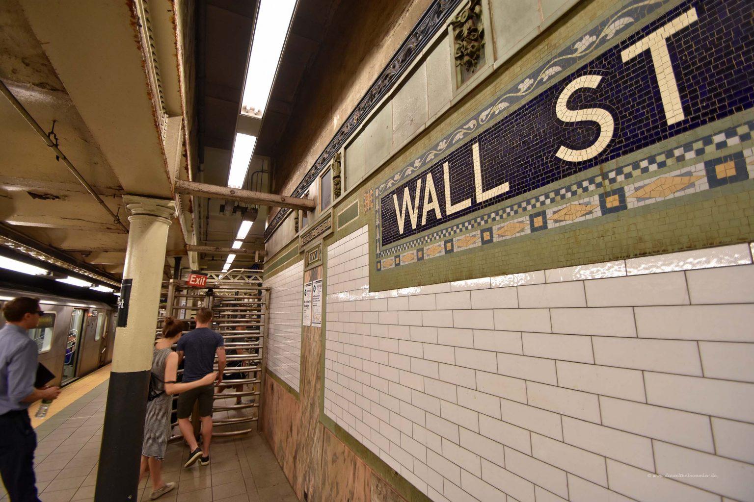 U-Bahn-Haltestelle Wall Street