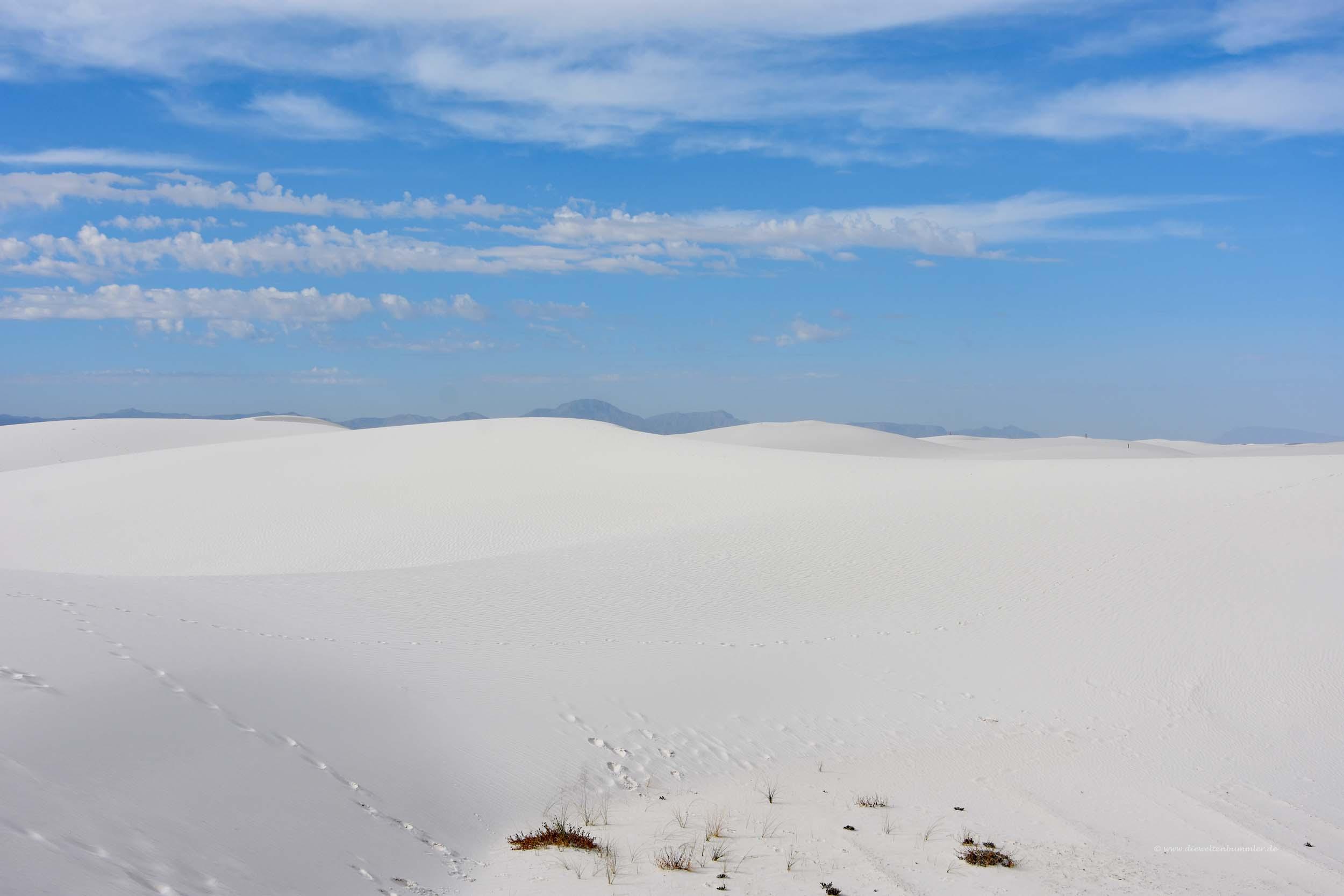 Schneeweiße Sandlandschaft