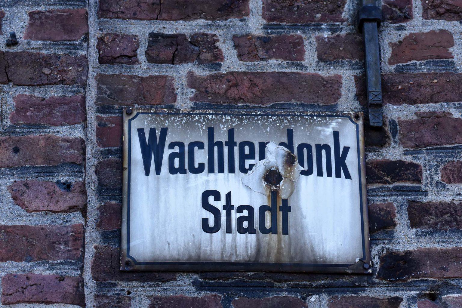 Altes Ortsschild von Wachtendonk