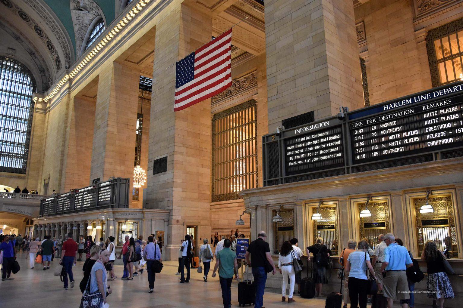 Anzeigetafel im Grand Central Terminal