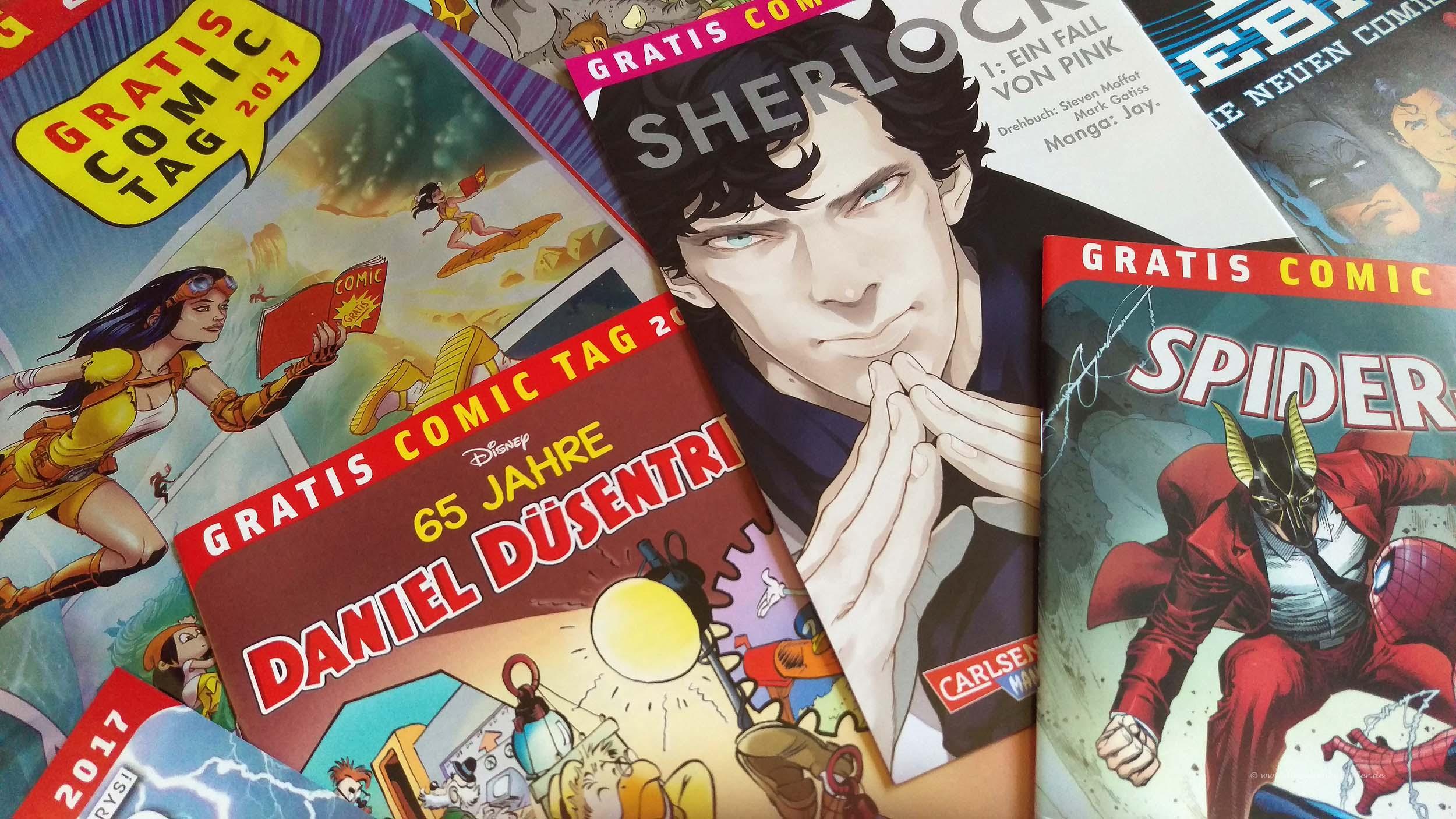Drei kostenlose Comics