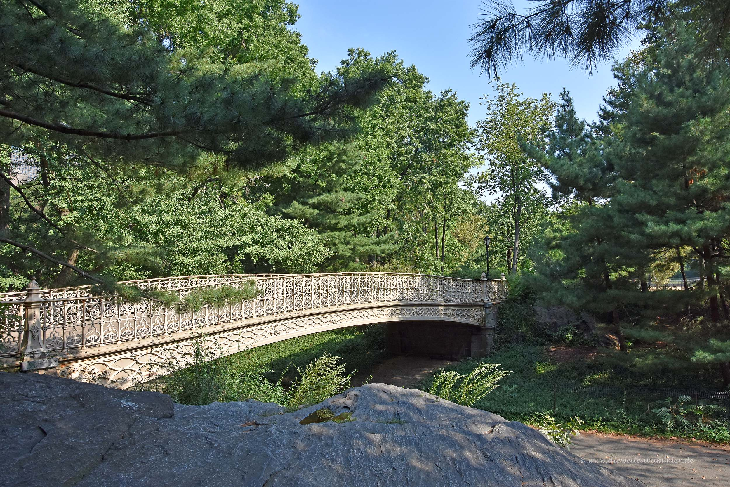 Holzbrücke im Central Park