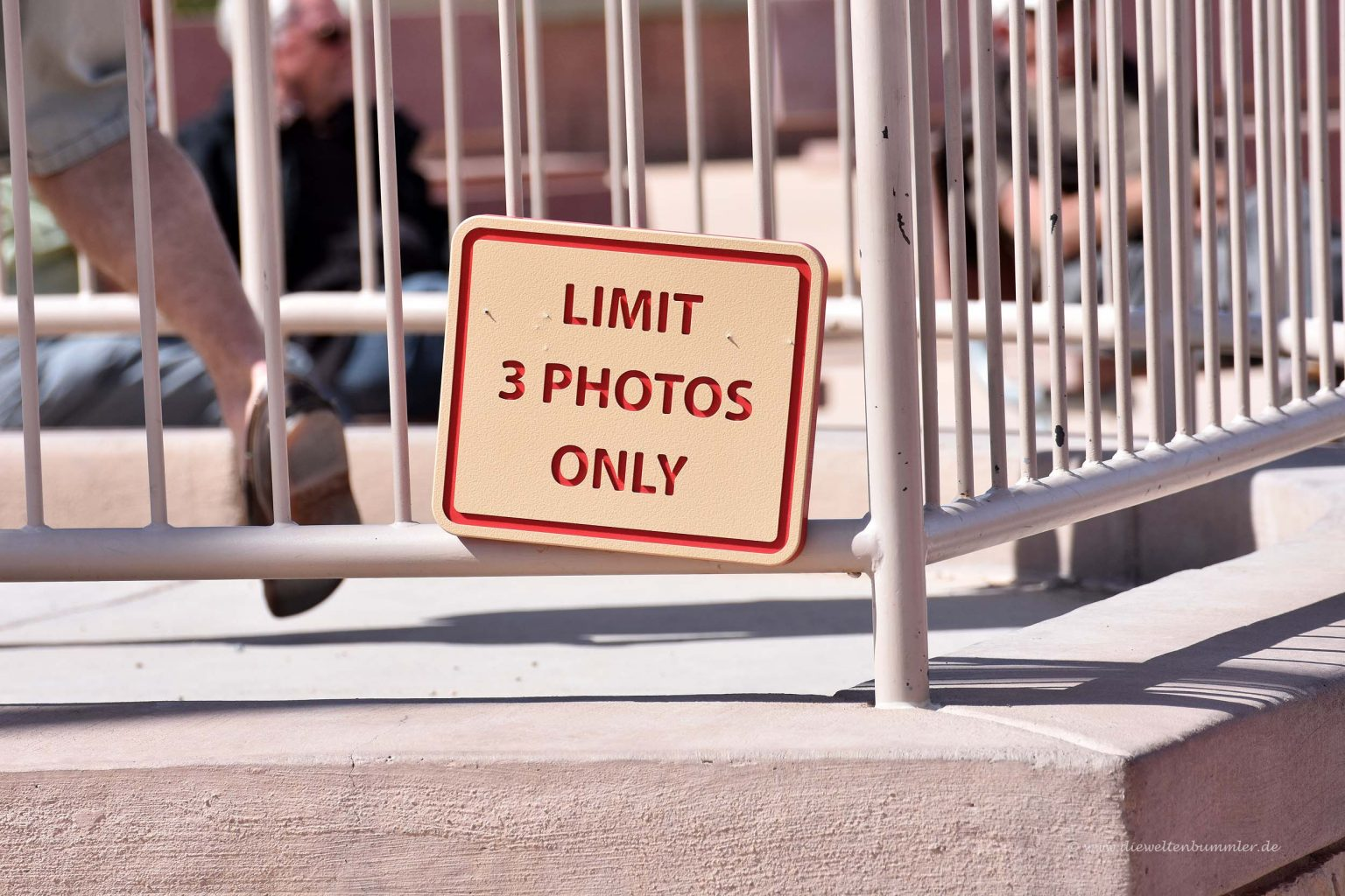 Man darf nur drei Fotos machen