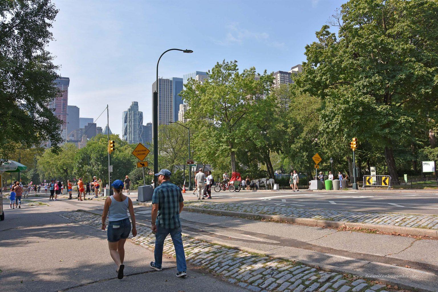 Straße im Central Park