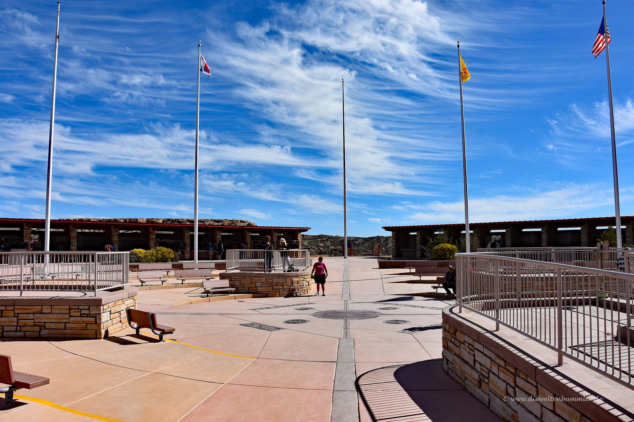Vierländereck von Utah Colorado New Mexico und Arizona