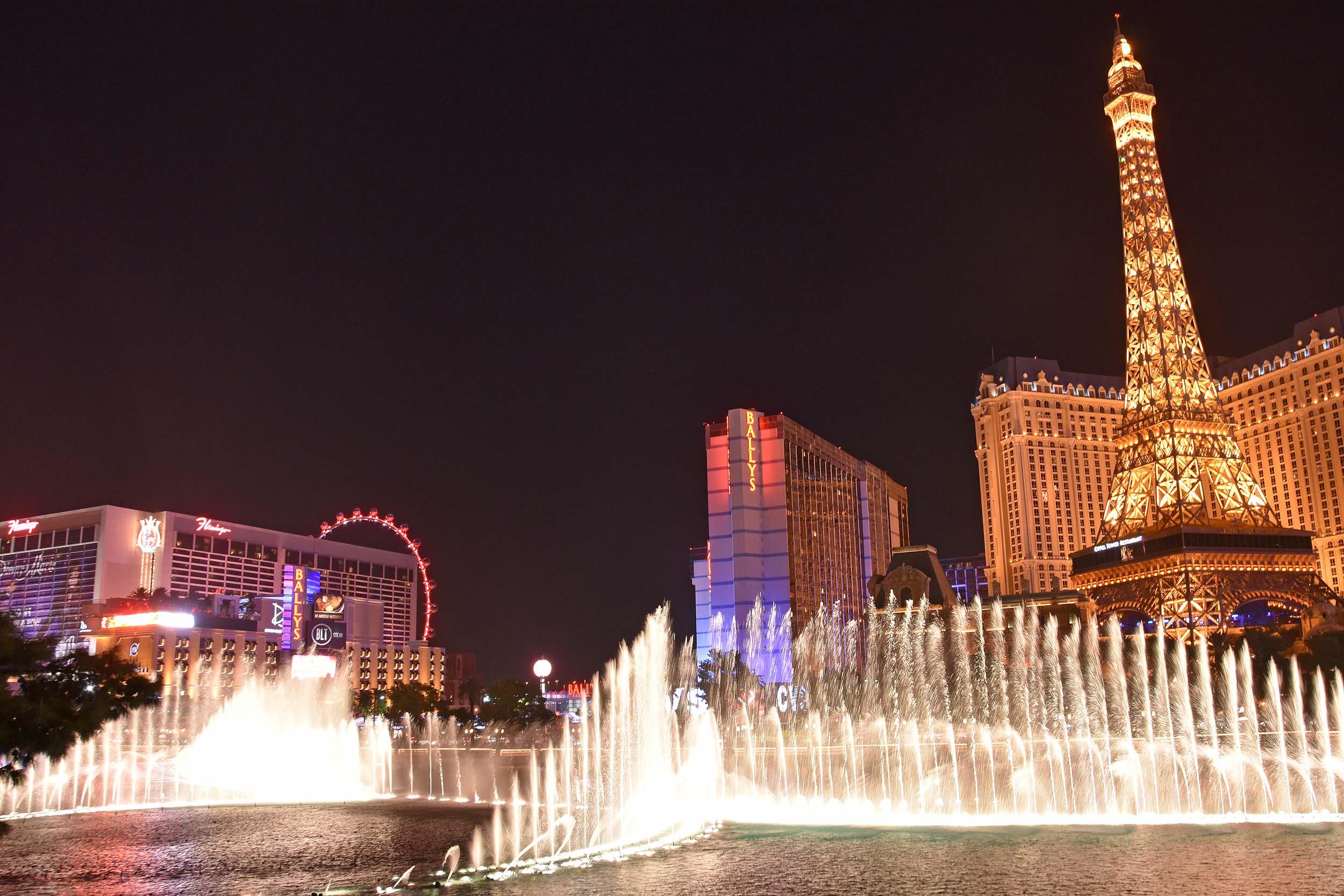 Wasserspiele vom Bellagio-Hotel