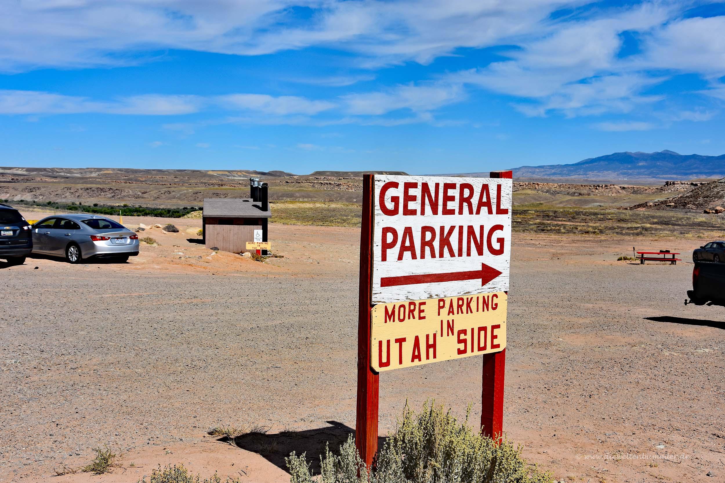 Weiterer Parkplatz in Utah
