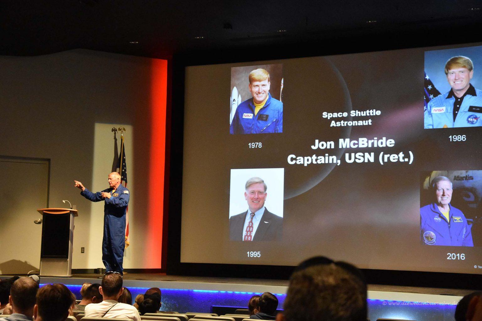 Astronaut Jon McBride
