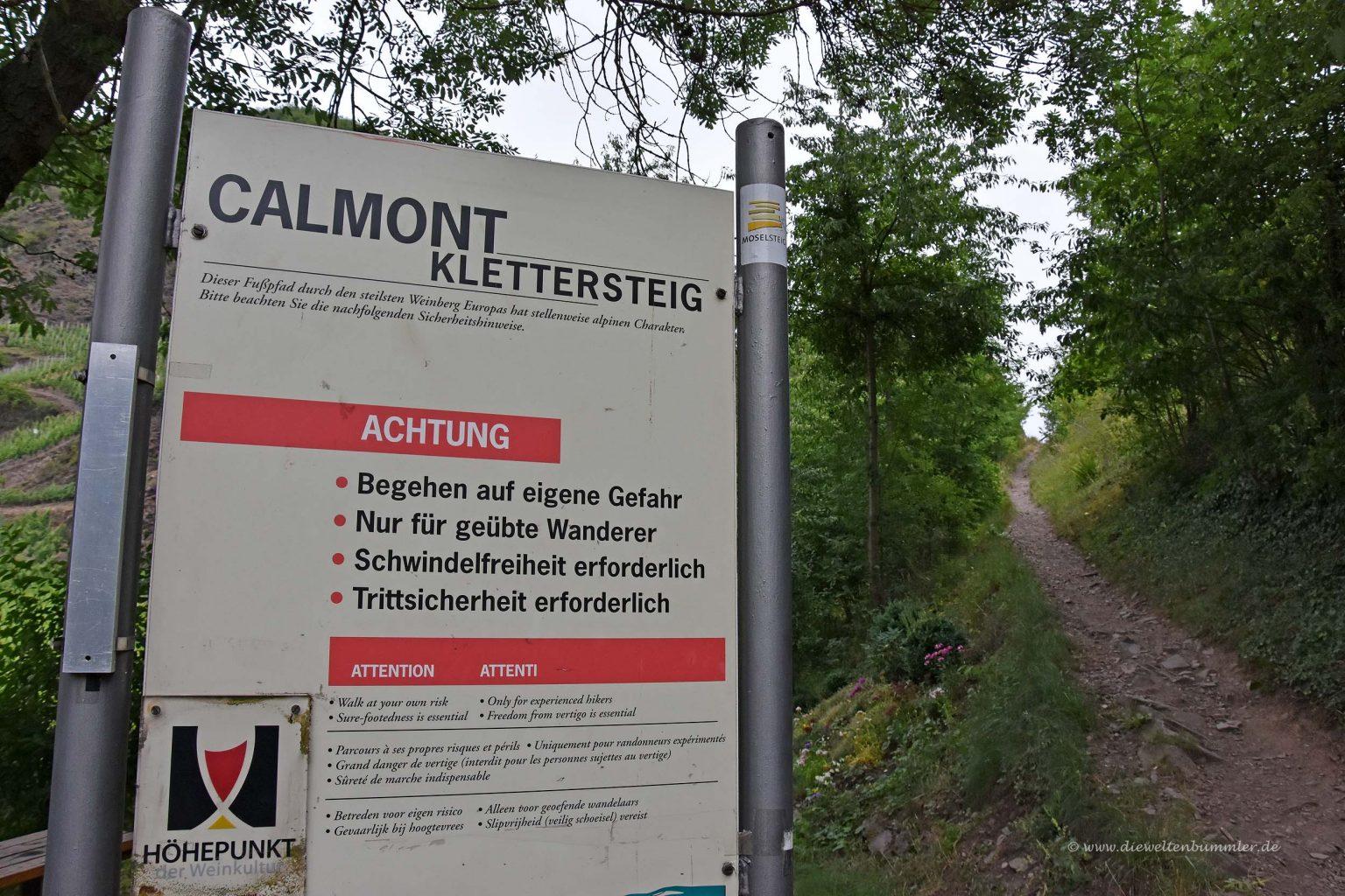 Klettersteig Calmont : Wandern im calmont klettersteig die weltenbummler