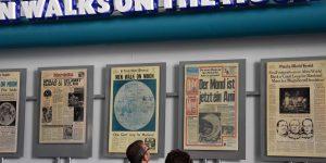 Mondlandung in der Zeitung