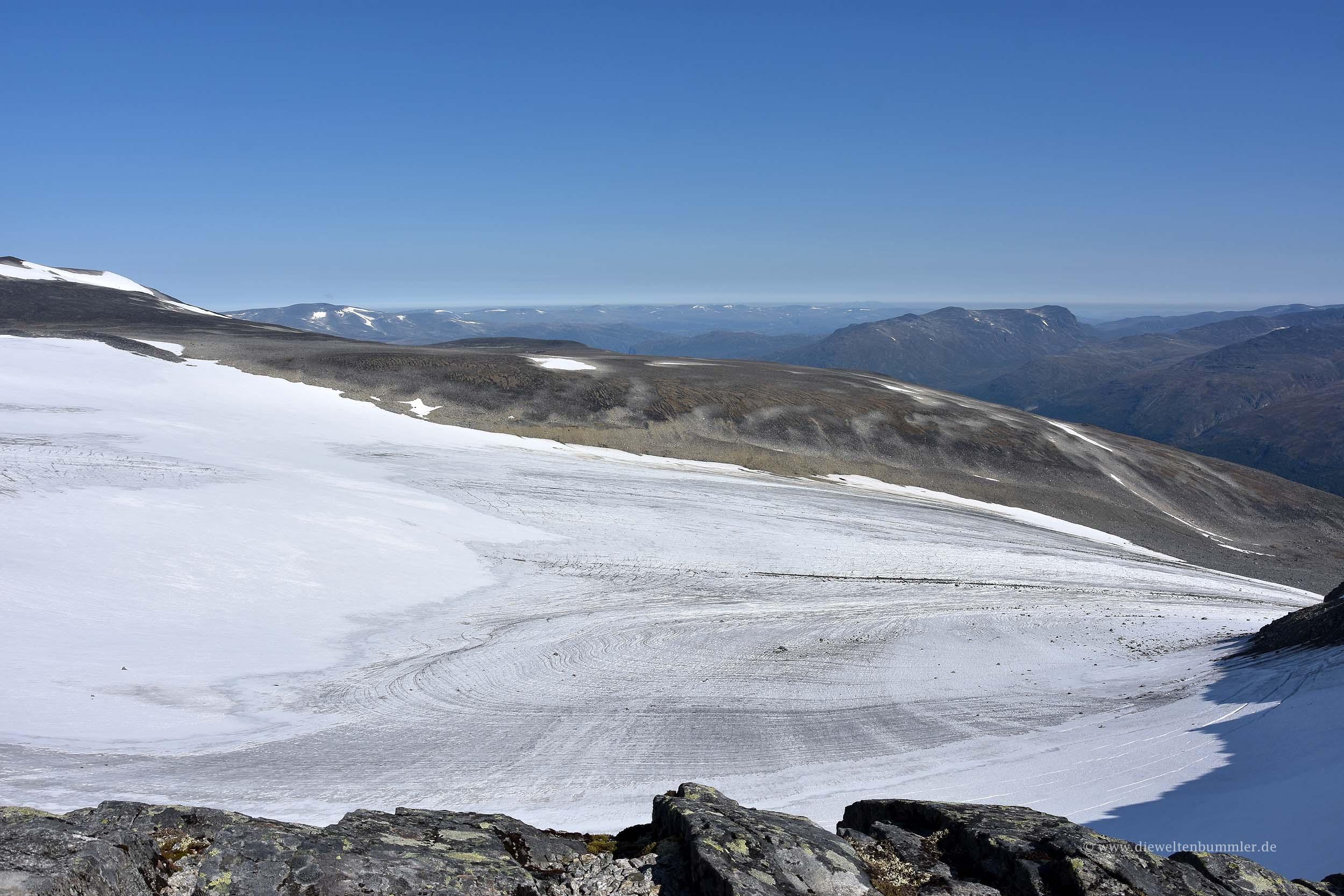 Blick auf den Gletscher