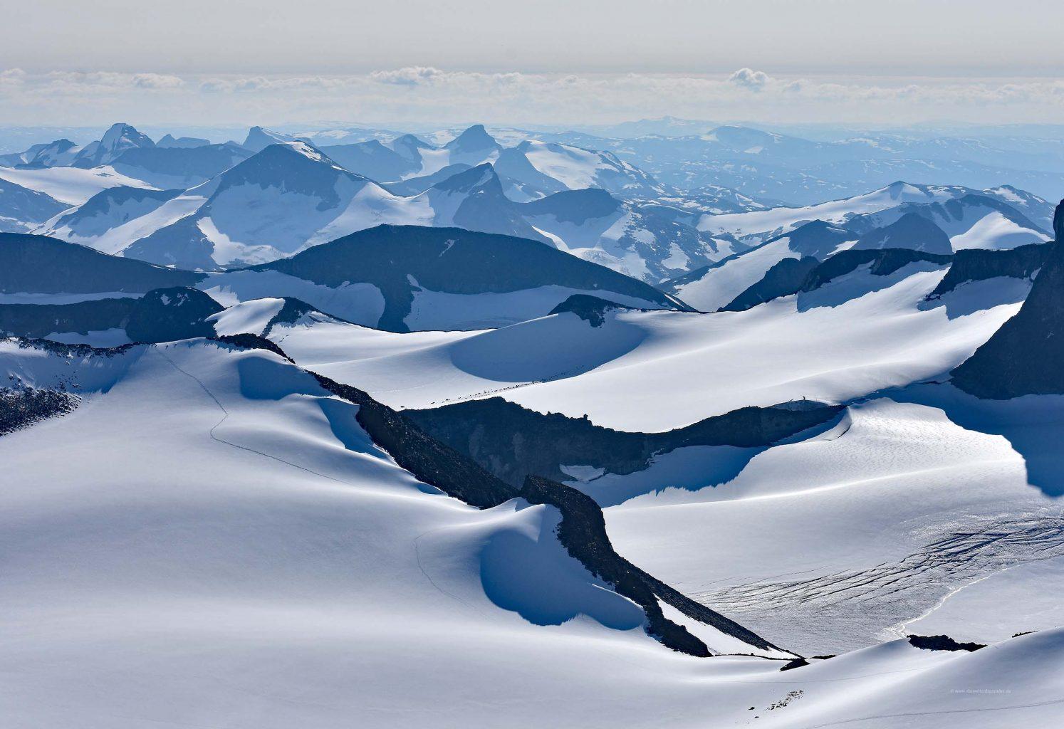Gebirgslandschaft im Nationalpark Jotunheimen