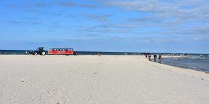 Rechts die Ostsee und links die Nordsee