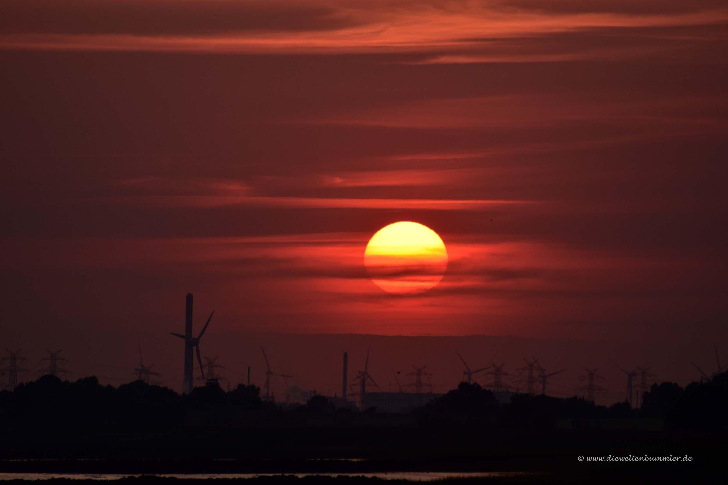 Sonnenuntergang am Elbufer