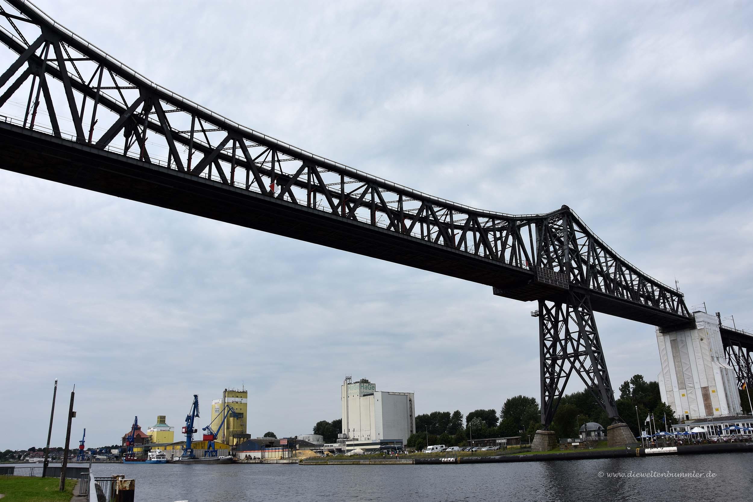 Brücke der Schwebefähre in Rendsburg