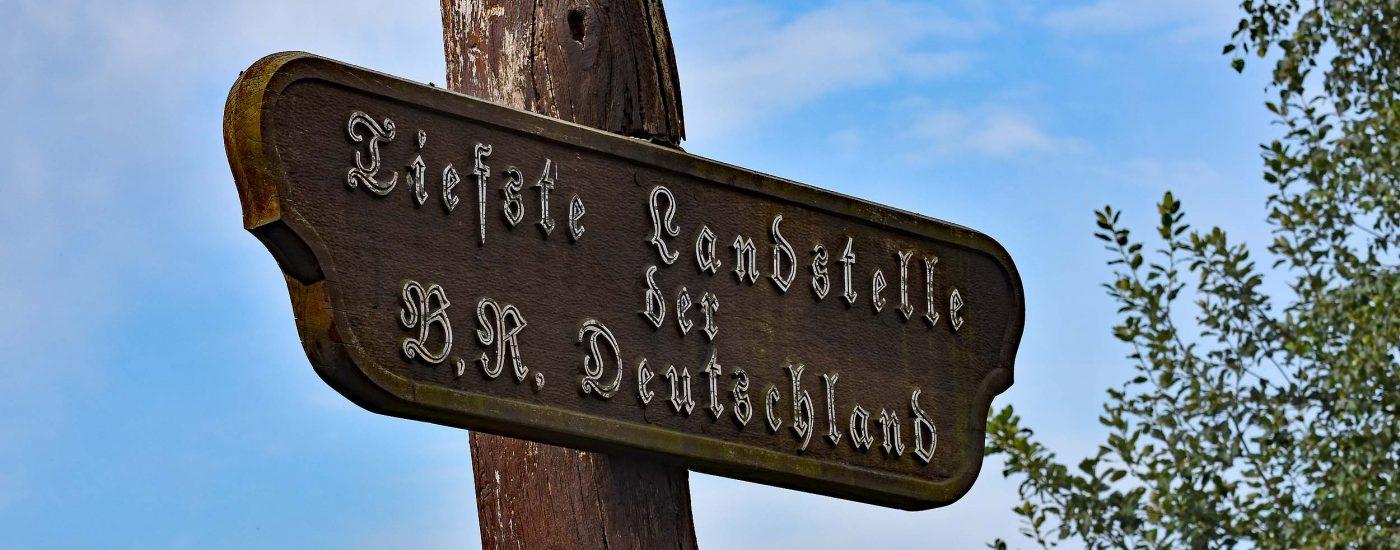 Der tiefste Punkt in Deutschland
