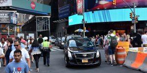 Mit dem Auto zum Times Square