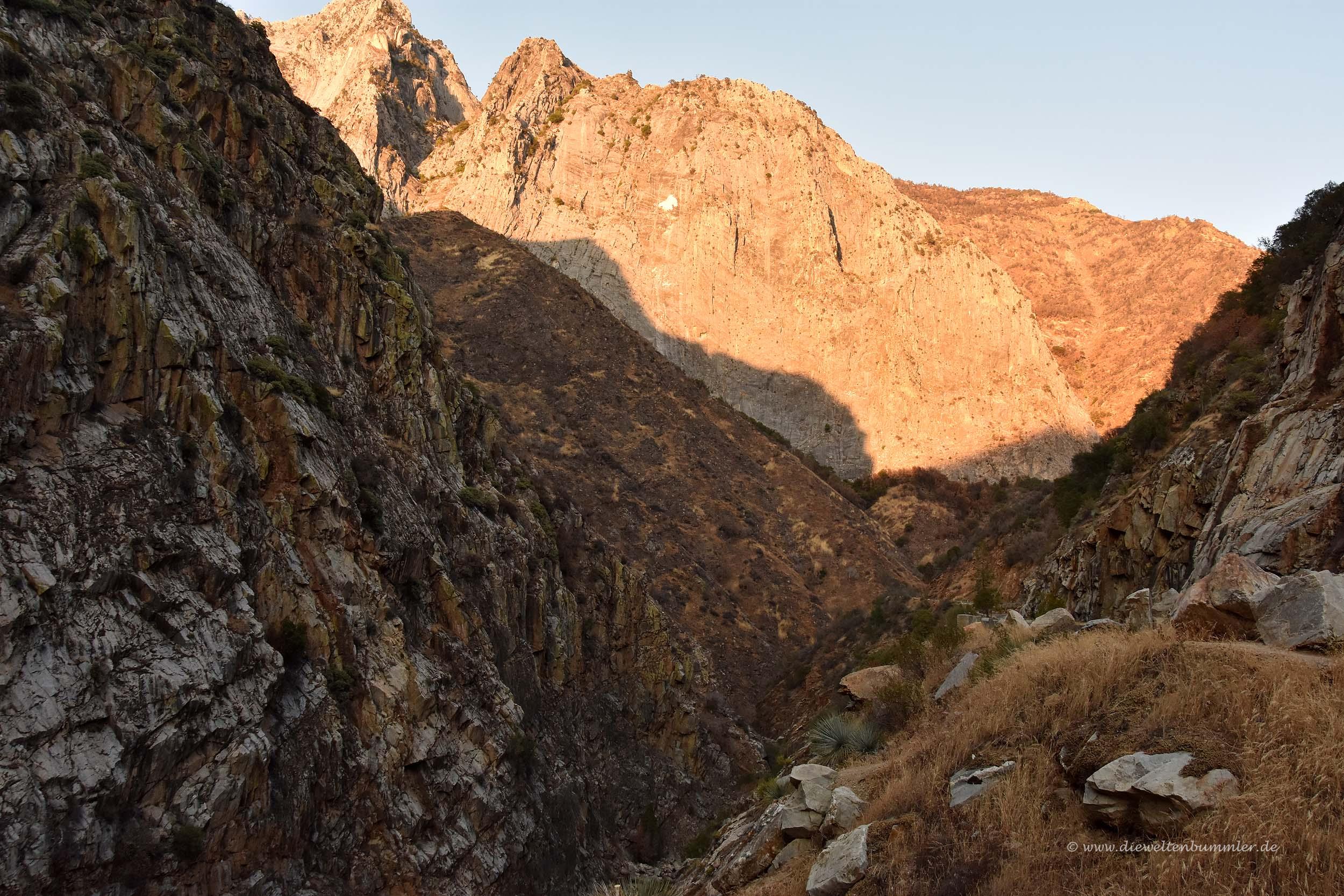 Alpenglühen in der Sierra Nevada
