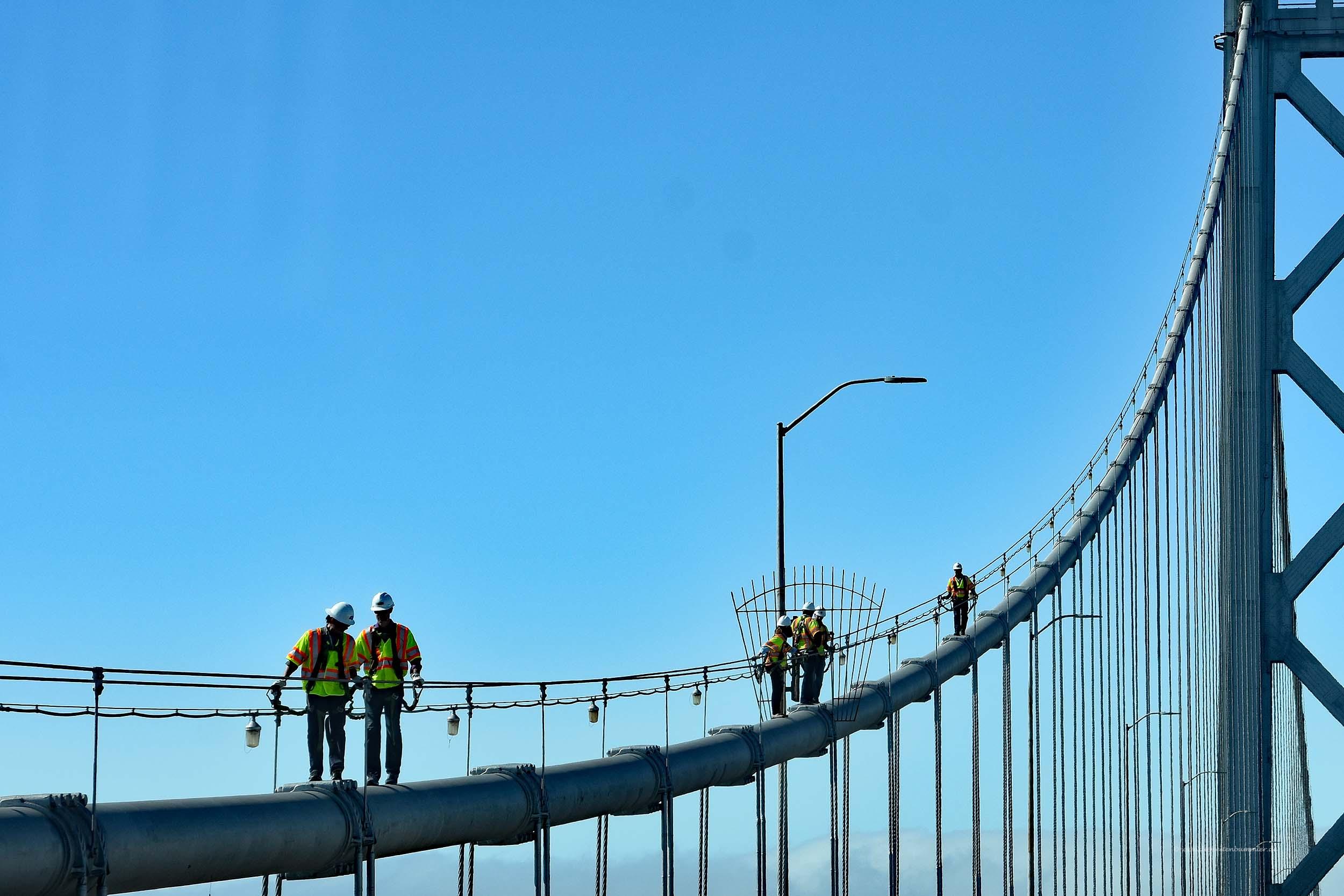 Arbeiter auf der Bay Bridge