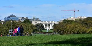 Blick vom Obelisken zum Weißen Haus