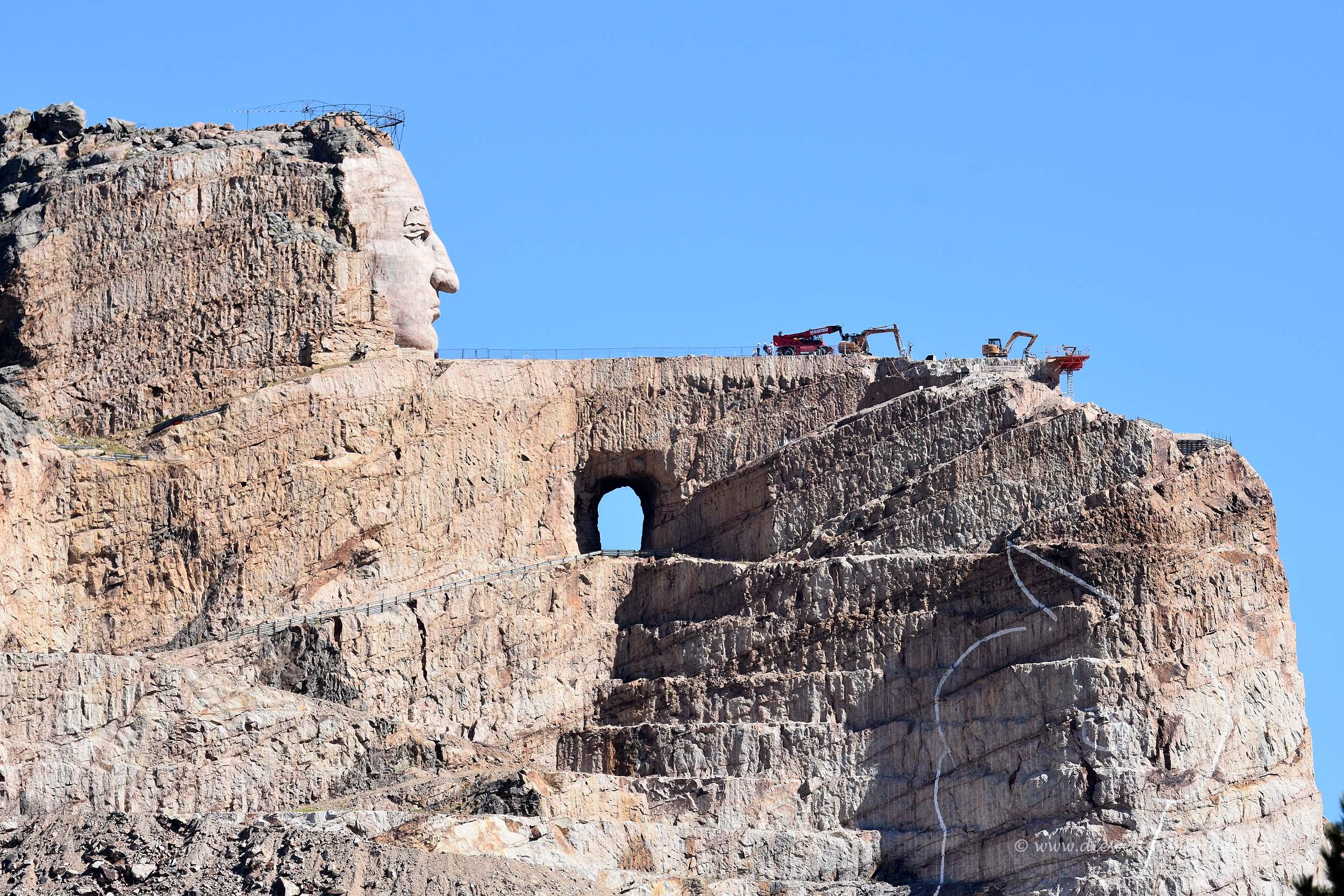 Crazy Horse Memorial als Baustelle