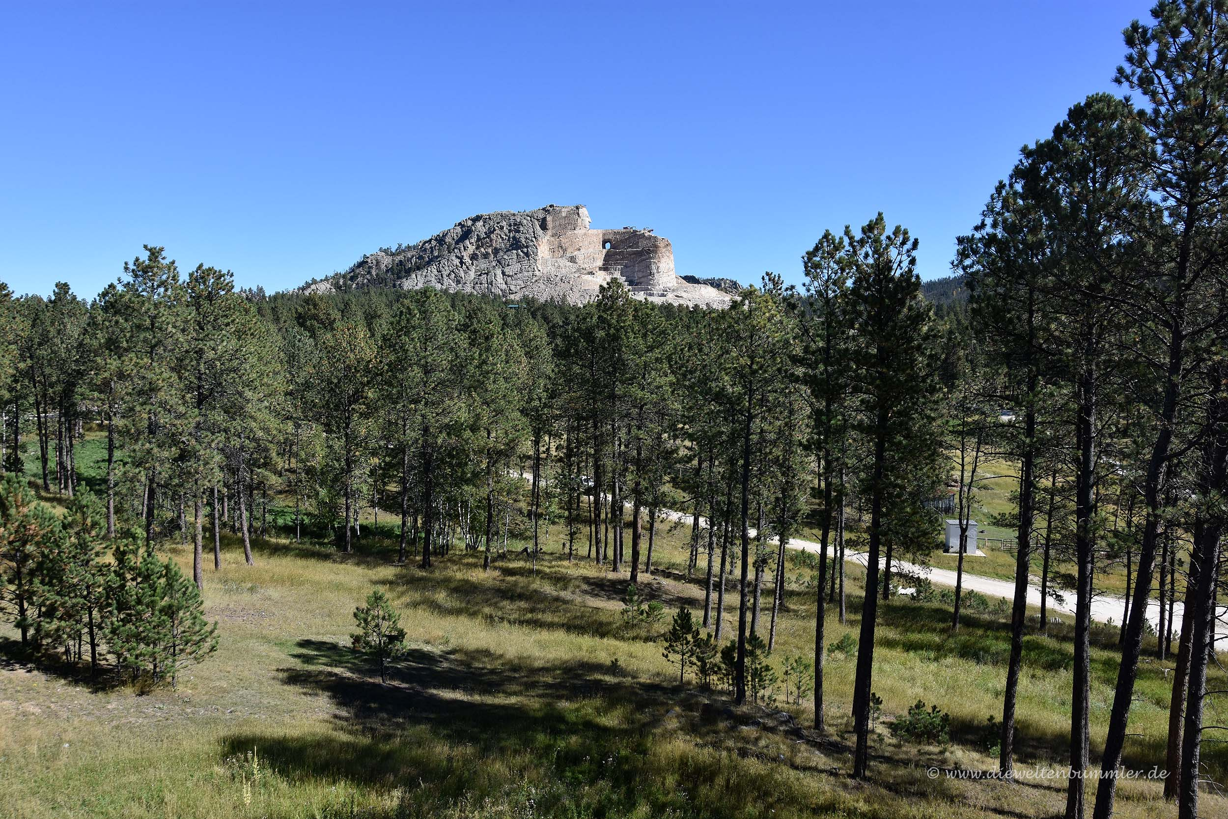 Das Crazy Horse Memorial aus der Ferne