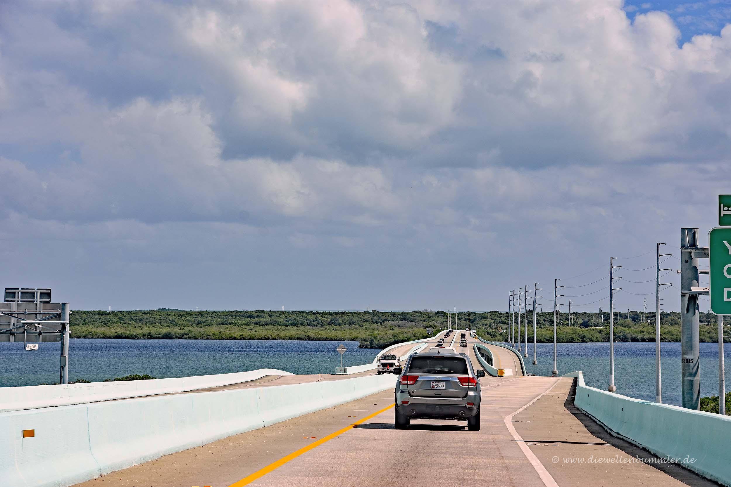 Der Highway 1 mit Blick auf Key Largo