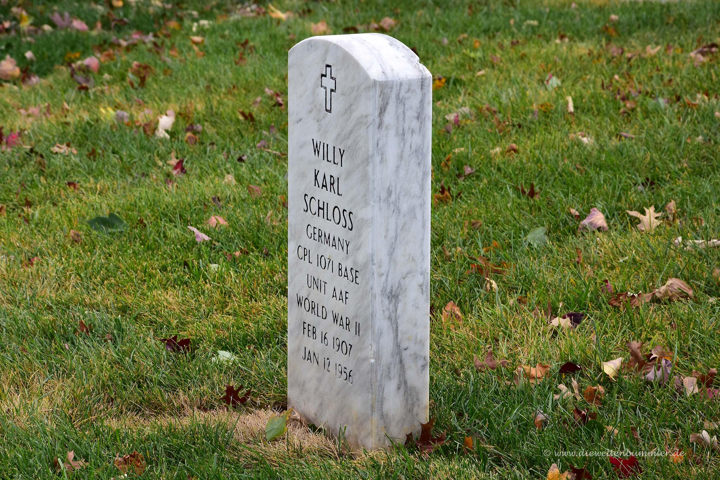 Grab eines Deutschen