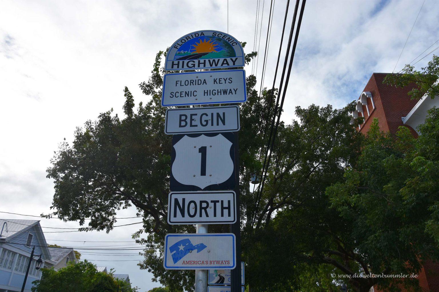 Hier beginnt der Highway 1