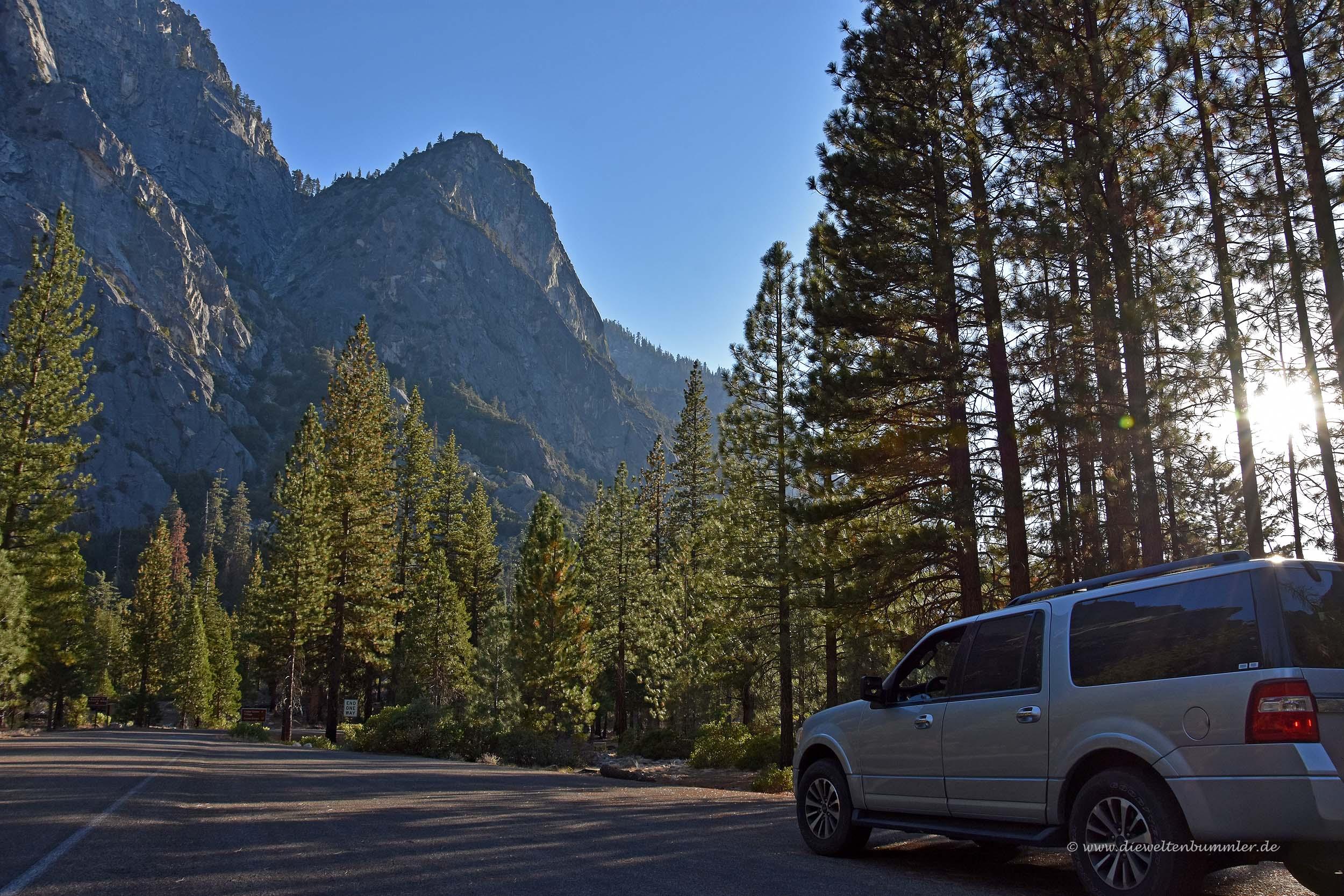 Parkplatz im Kings Canyon