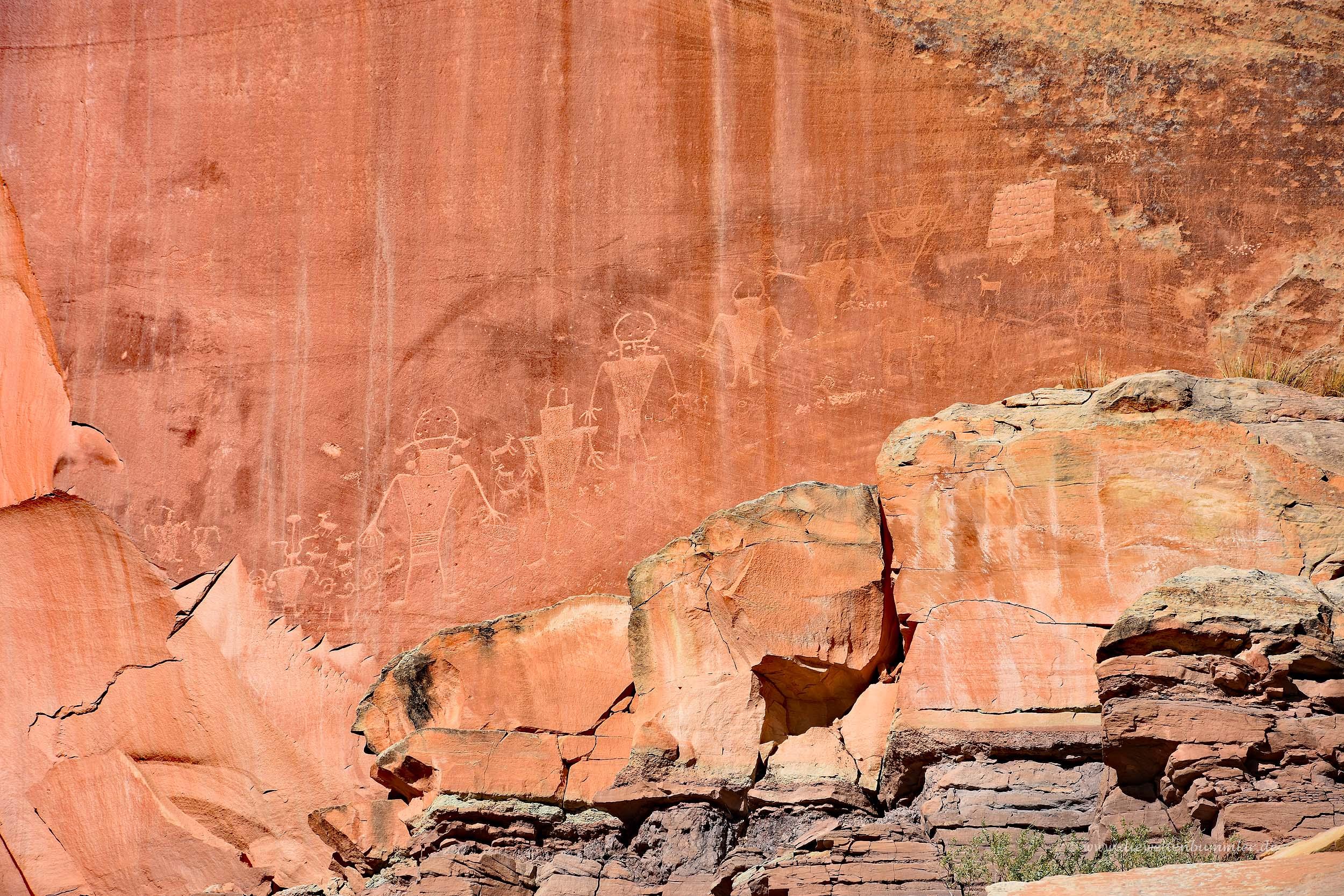 Petroglyphen aus der Frühzeit